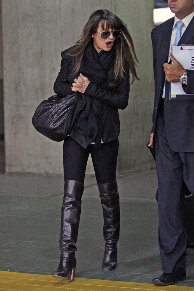 La star de Glee, vraie fashionista !