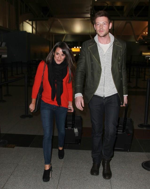 Lea Michele et Corey Monteith, New York, 6 mars 2013.