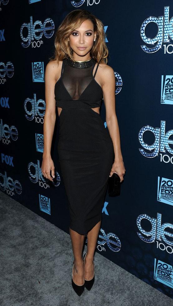 Naya Rivera à la soirée du 100e épisode de Glee organisée à West Hollywood le 18 mars 2014