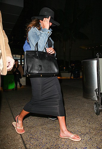 Lea Michele à Los Angeles le 3 janvier 2014