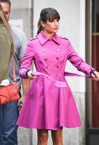 Lea Michele à New-York le 9 septembre 2013