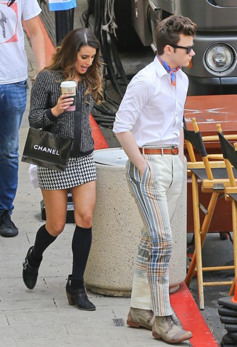 Lea Michele et Chris Colfer à Los Angeles le 1er mai 2014