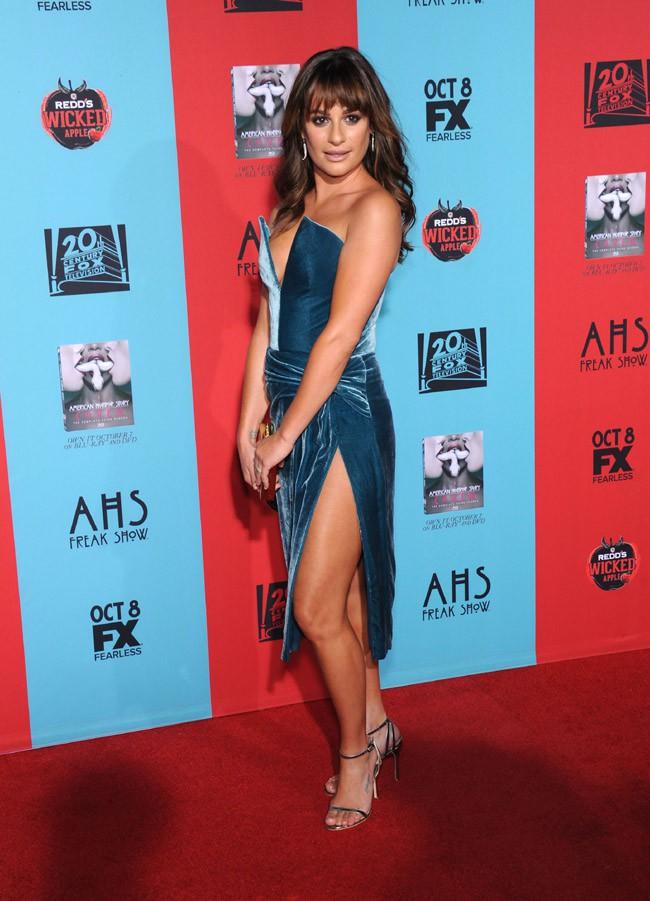 Lea Michele à la soirée de lancement de la saison d'American Horror Story organisée à Hollywood le 5 octobre 2014