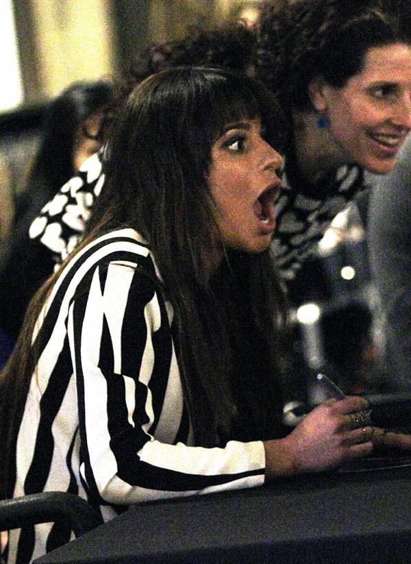 Lea Michele en séance dédicaces à New-York le 4 mars 2014