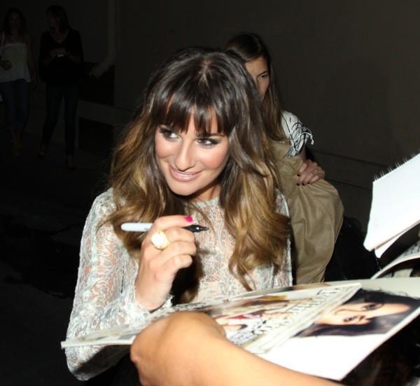 Lea Michele à la sortie du Jimmy Kimmel Live à Los Angeles, le 11 septembre 2012.
