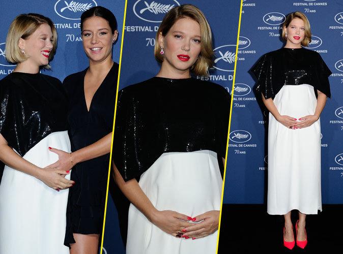 Photos : Léa Seydoux : elle affiche son beau ventre rond à la soirée d'anniversaire du Festival de Cannes