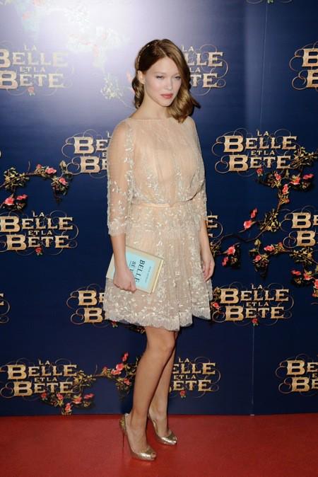 """Photos : Léa Seydoux : l'actrice irradie de beauté pour l'avant-première de """"La Belle et la Bête"""" !"""