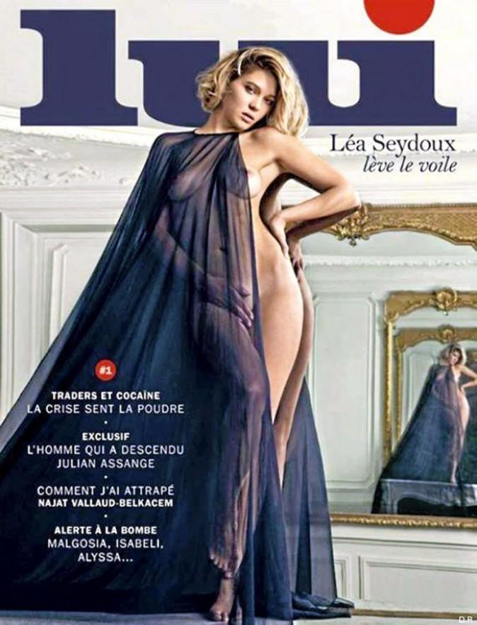Léa n'a peur de rien... surtout pas de poser nue en couv du premier numéro de Lui ! Septembre 2013