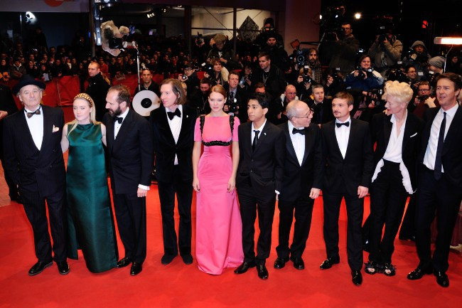 Bill Murray, Saoirse Ronan, Ralph Fiennes, Wes Anderson, Lea Seydoux, Tony Revolori, Bob Balaban, Florian Lukas, Tilda Swinto et Edward Norton lors...