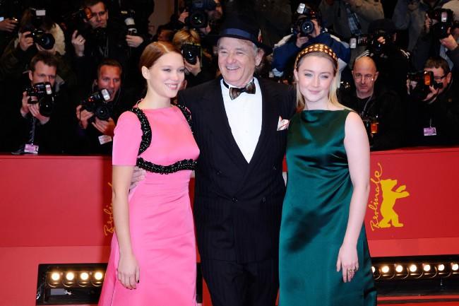 Lea Seydoux, Bill Murray et Saoirse Ronan lors de l'inauguration de la 64e Berlinale, le 6 février 2014.