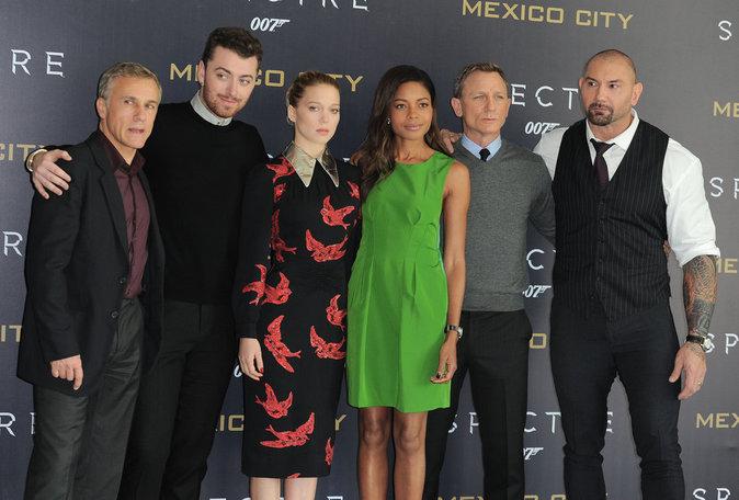 L'équipe de James Bond Spectre le 1er novembre 2015