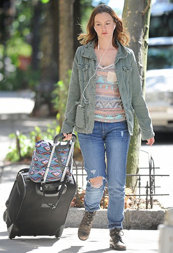 Leighton Meester à New-York le 17 septembre 2013