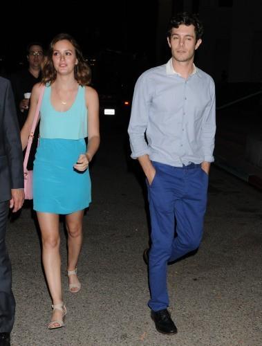 Leighton Meester et Adam Brody à Los Angeles, le 26 juin 2013.