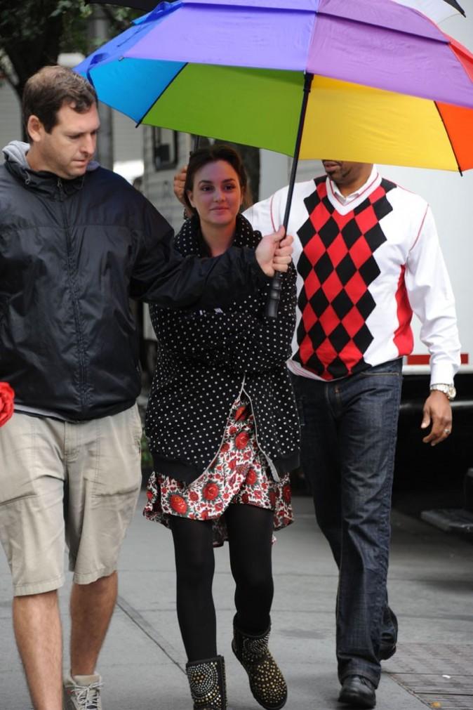 Leighton Meester sur le tournage de Gossip Girl hier !