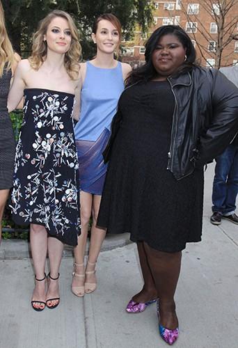 Gillian Jacobs, Leighton Meester et Gabourey Sidibe à New York le 18 avril 2014