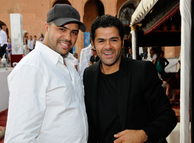 Jamel et Mohamed Debbouze lors du Festival Marrakech du rire, à Marrakech le 11 juin 2011.