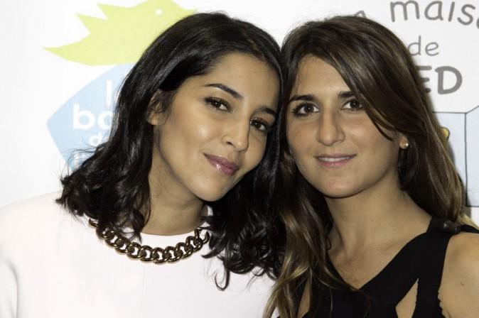 """Leïla Bekhti et Géraldine Nakache au gala de charité organisé par """"Sur les bancs de l'école"""" à Paris le 13 octobre 2014"""