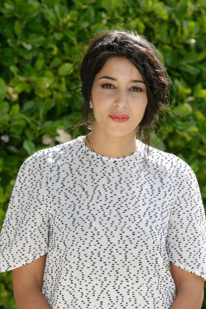 Leïla Bekhti lors du photocall de son nouveau film Maintenant ou jamais au Festival d'Angoulême le 23 août 2014.