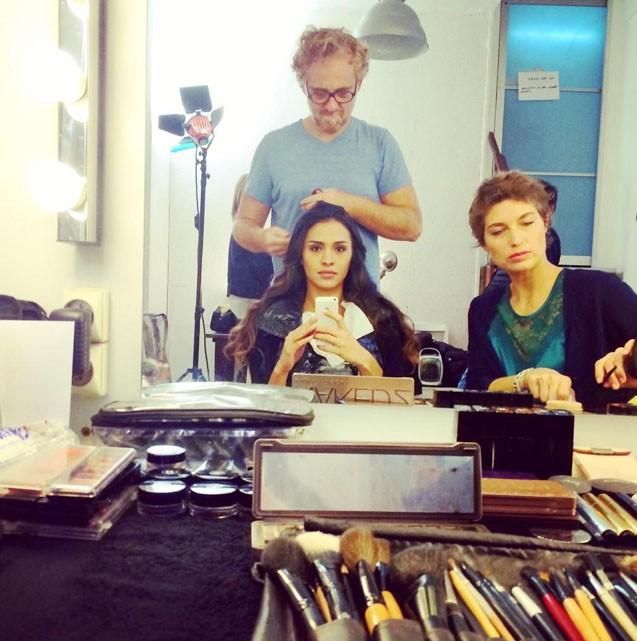 Leïla (Secret Story 8) en pleine préparation pour le shooting !