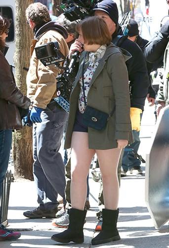 Lena Dunham à New York le 16 avril 2014