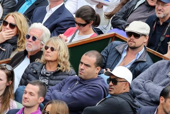 Leonardo DiCaprio dans le public de Roland Garros, le 2 juin 2013 à Paris
