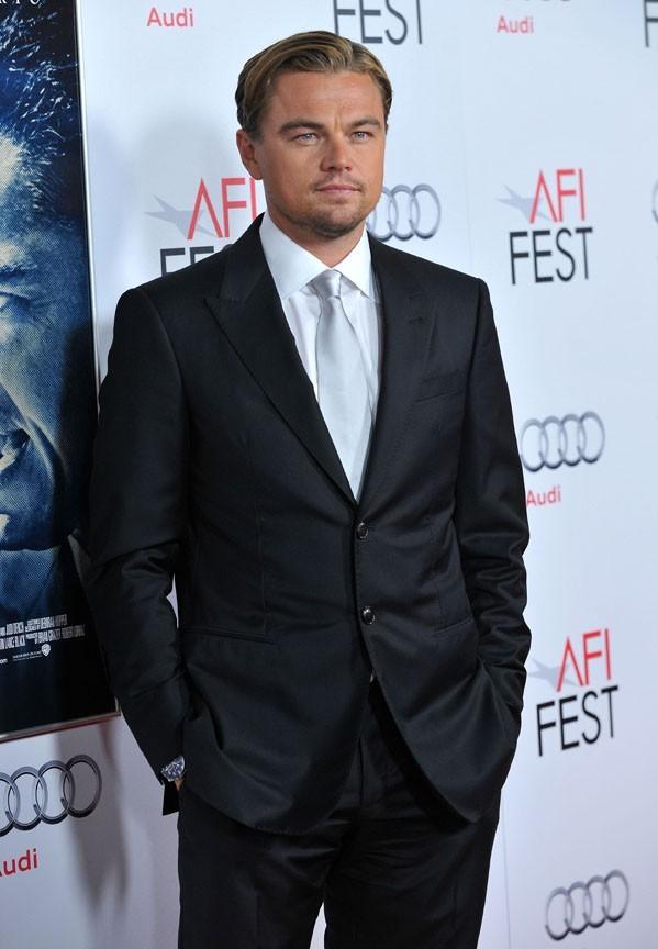 Le beau Leo hier à Hollywood !