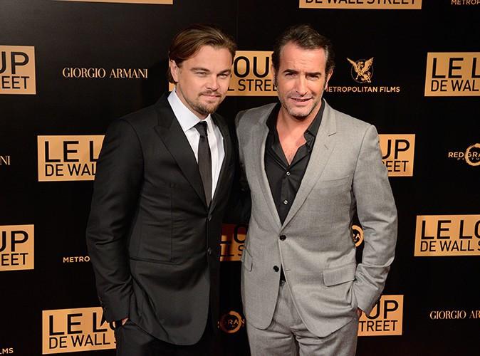 Leonardo DiCaprio et Jean Dujardin à Paris le 9 décembre 2013