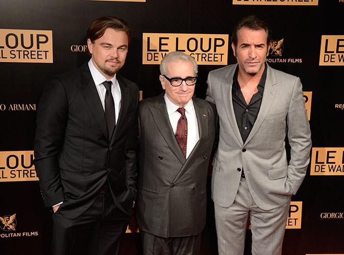 Leonardo DiCaprio, Martin Scorsese et Jean Dujardin à Paris le 9 décembre 2013