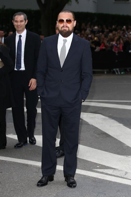 Leonardo DiCaprio aux 40 ans de la marque Armani, à Milan le 30 avril 2015