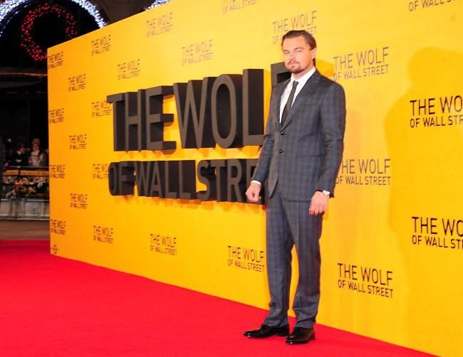 """Leonardo DiCaprio lors de la première du film """"Le Loup de Wall Street"""" à Londres, le 9 janvier 2014."""