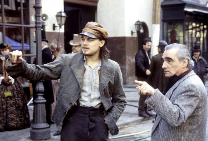 Leonardo DiCaprio et Martin Scorsese sur le tournage de Gangs of New York