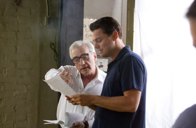Leonardo DiCaprio et Martin Scorsese sur le tournage du Loup de Wall Street