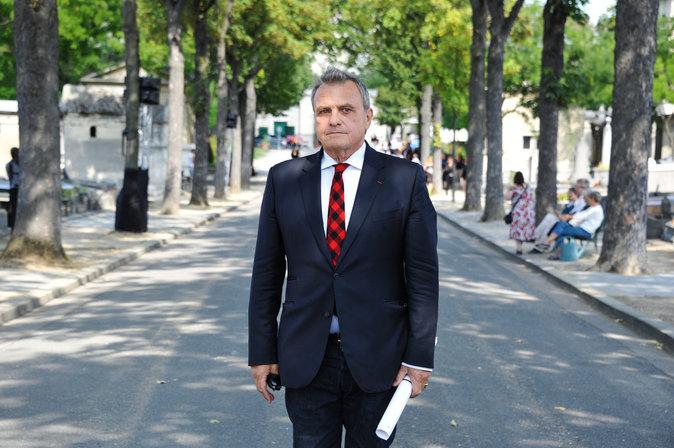 Jean-Charles de Castelbajac aux obsèques de Sonia Rykiel, le 1er septembre 2016