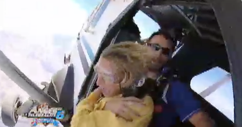 Benjamin, Naïs et Dania partent faire un saut en parachute