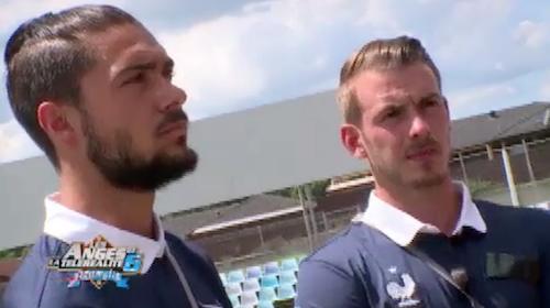 Photos : Les Anges 6 : les deux Julien sous haute pression pour leur match de foot : L'arrivée au stade