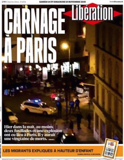 Photos : les attentats à Paris à la Une de la presse internationale