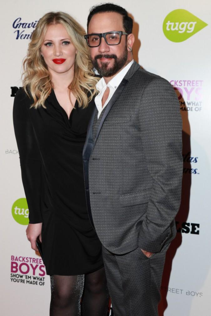 Rochelle Deanna Karidis et AJ McLean le 29 janvier 2015