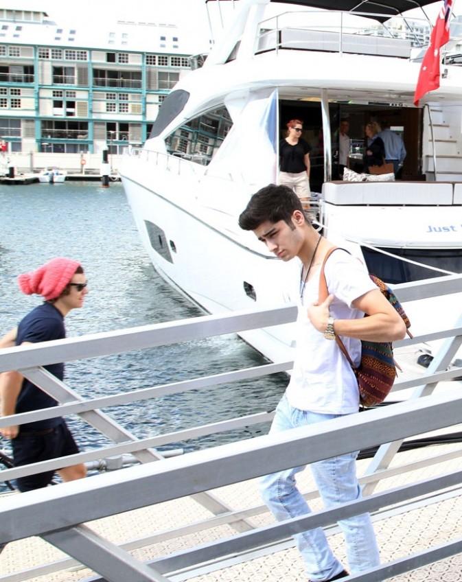 Détente sur un yacht en Australie