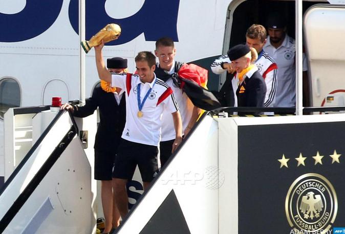 Les champions du monde allemands accueillis en héros à Berlin, le 15 juillet 2014
