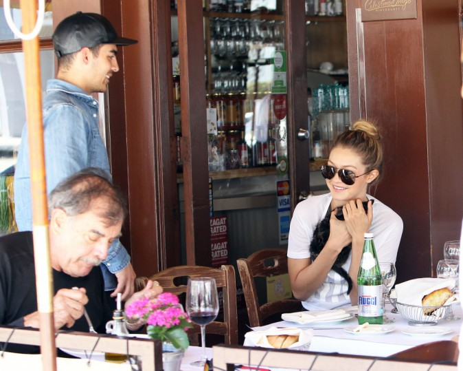 Gigi Hadid et Joe Jonas le 15 juin 2015