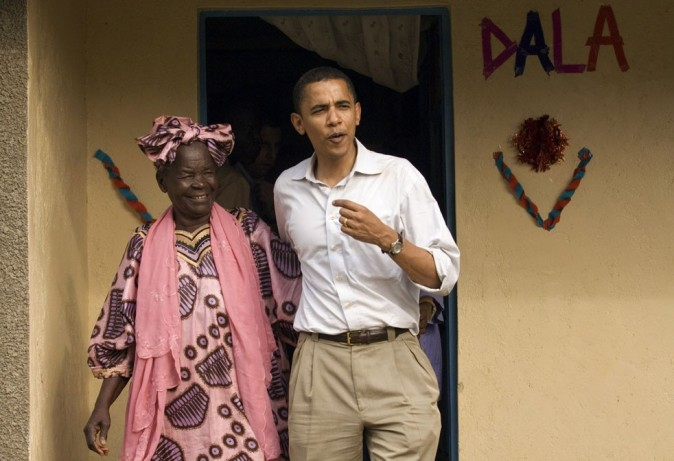 Barack Obama et sa grand-mère