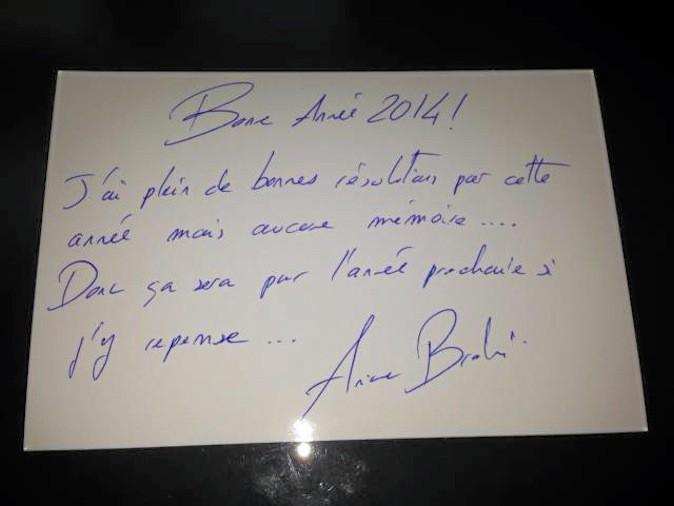 Ariane Brodier souhaite une bonne année 2014 à Public !