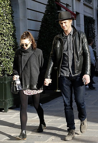 Elizabeth Olsen et Boyd Holbrook à Paris le 6 mars 2014