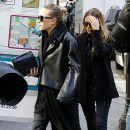 Mary-Kate et Ashley Olsen à Paris le 6 mars 2014
