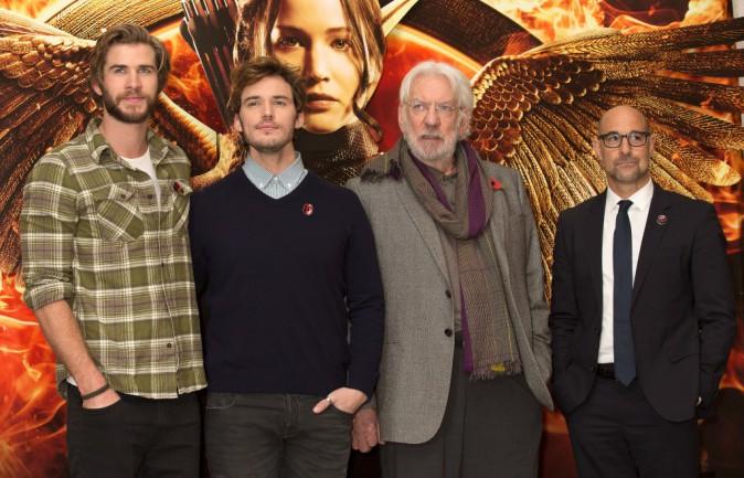 Photos : les stars d'Hunger Games, Jennifer Lawrence en tête, réunies à Londres !