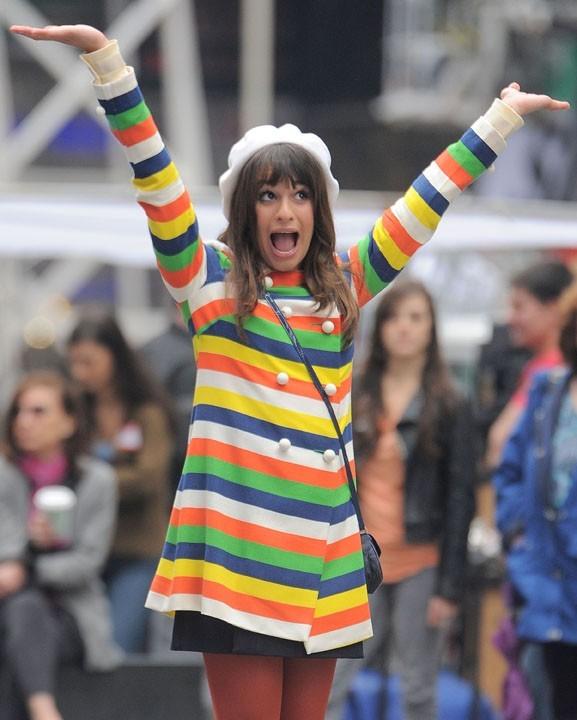 Lea Michele, heureuse de tourner un épisode de Glee à New York !