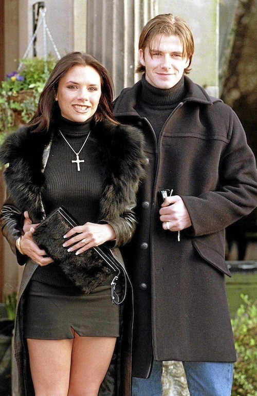 David et Victoria Beckham : LONDRES 21/01/98