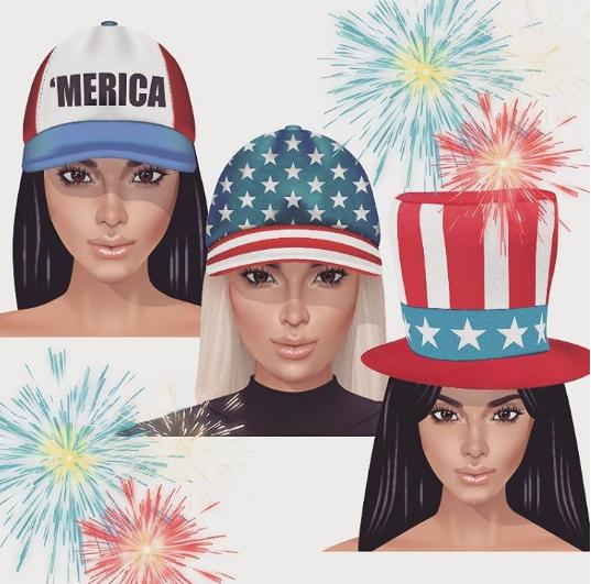 "Kim Kardashian fête le ""Fourth of July"""