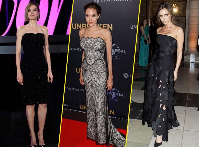 Photos : Letizia d'Espagne, Angelina Jolie, Victoria Beckham… Belles mais maigres, ces stars qui dérangent !