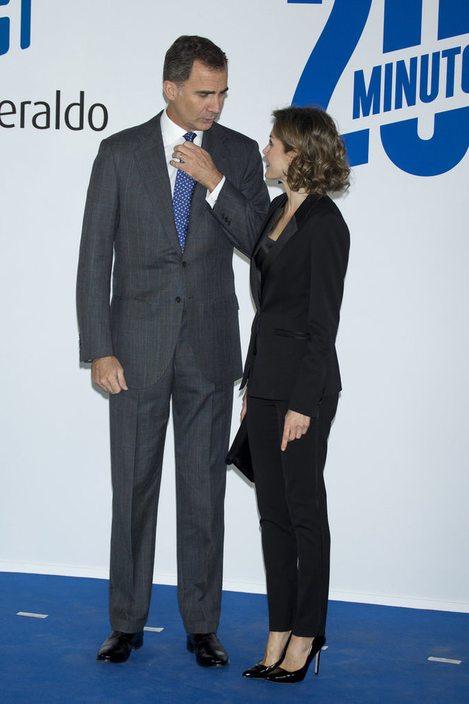 Photos : Letizia d'Espagne : chic en total look black